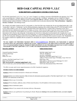 Red Oak Capital fund V LLC