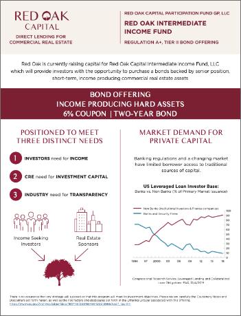 Red Oak Capital intermediate income fund LLC Reg A+ tier 2 bond offering